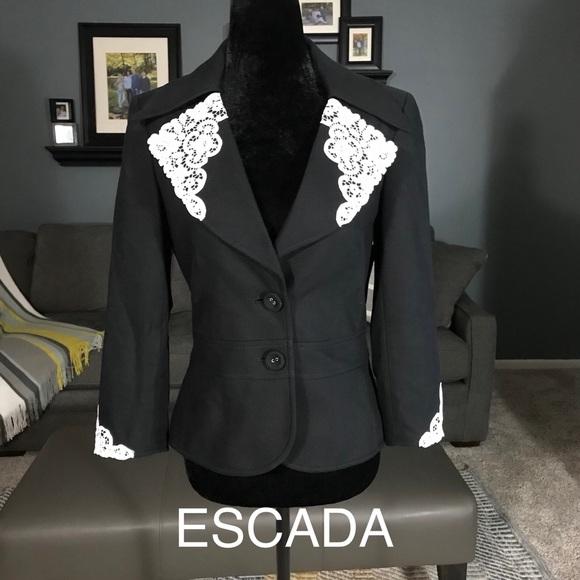76c154e98ad Escada Jackets & Coats   Blazer With Lace Detailing   Poshmark